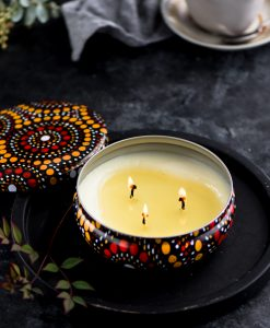 Scented candle golden wattle